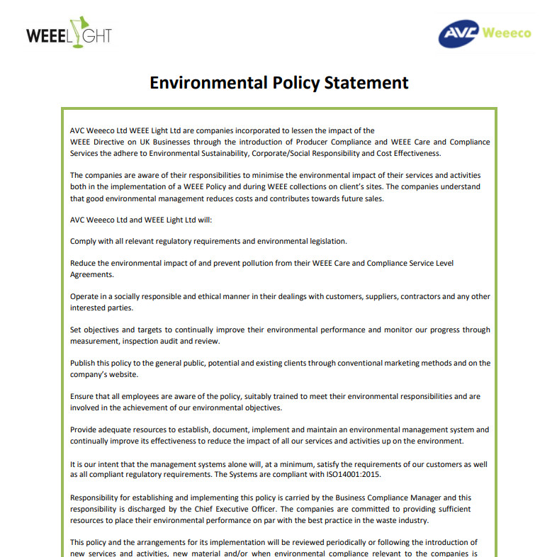 Environmental Management System Template Uk Image Collections